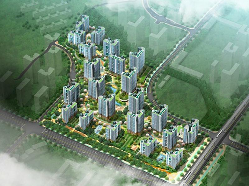 김포한강신도시 AB-11블록 신축공사 옥상조형물 PC화