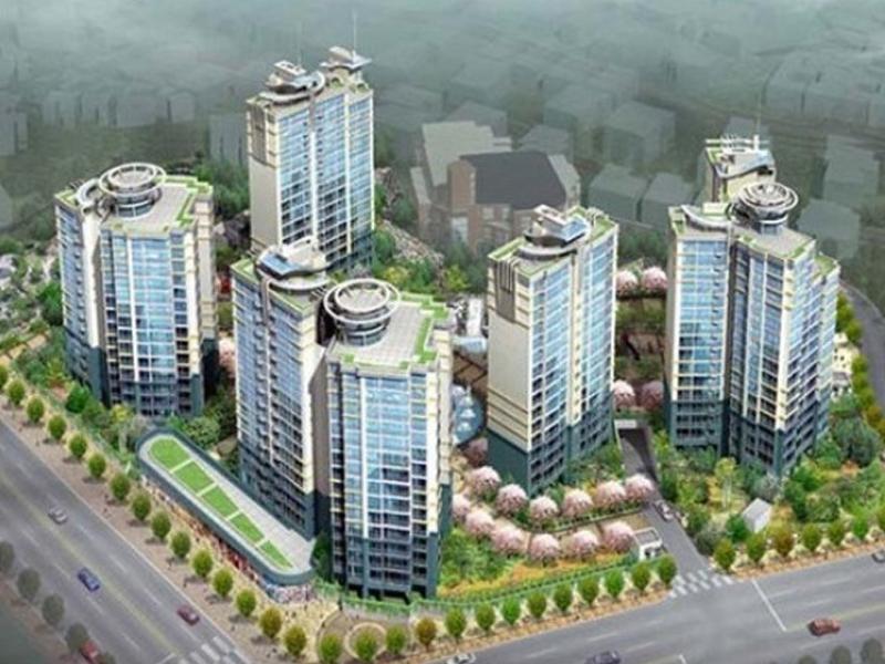 용두제4구역 주택개발 아파트 조형물 PC공사